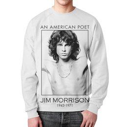 """Свитшот мужской с полной запечаткой """"Джим Моррисон"""" - музыка, jim morrison, the doors, джим моррисон, doors"""