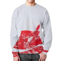 """Свитшот унисекс с полной запечаткой """"Tokio Coca-Cola"""" - арт, 3d, japan"""