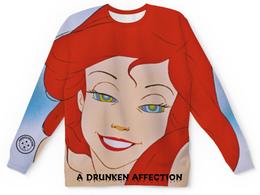 """Свитшот унисекс с полной запечаткой """"a drunken affection - ARSG"""" - swag, ariel, arsboyz, arsg"""