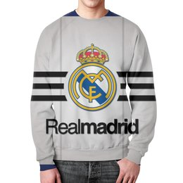 "Свитшот мужской с полной запечаткой ""Реал Мадрид (Футбол)"" - реал мадрид"