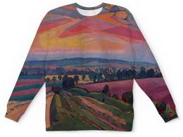 "Свитшот унисекс с полной запечаткой ""The Icknield Way (Спенсер Гор)"" - картина, гор"
