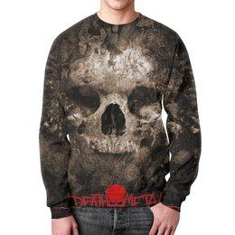 """Свитшот унисекс с полной запечаткой """"Death Metal 2 (черная)"""" - смерть, death metal, ужасы, мистика, металл"""