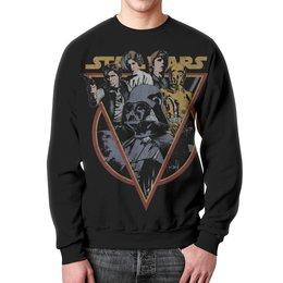 """Свитшот мужской с полной запечаткой """"Star Wars"""" - star wars, звездные войны, дарт вейдер, хан соло"""