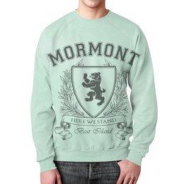 """Свитшот унисекс с полной запечаткой """"Игра Престолов. Дом Мормонтов"""" - игра престолов, game of thrones, мормонт, house mormont, дом мормонтов"""