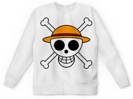 "Свитшот унисекс с полной запечаткой ""One Piece"" - ван пис, one piece, луффи, мугивара"