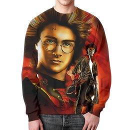 """Свитшот мужской с полной запечаткой """"Гарри Поттер """" - кино, мужчине, хогвартс, фэнтези"""