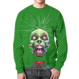 """Свитшот мужской с полной запечаткой """"Zombies Design"""" - череп, зомби, монстр, фантастика, ужасы"""