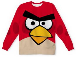 """Свитшот унисекс с полной запечаткой """"ANGRY BIRDS"""" - игры, красный, птички, angry birds, ангри бердс"""