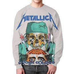 """Свитшот унисекс с полной запечаткой """"Metallica"""" - heavy metal, metallica, рок музыка, металлика, thrash metal"""