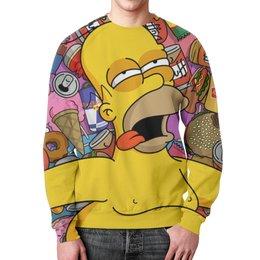 """Свитшот мужской с полной запечаткой """"Гомер Симпсон (Simpsons)"""" - simpsons, гомер симпсон"""