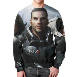 """Свитшот унисекс с полной запечаткой """"Масс Эффект (Mass Effect)"""" - n7, масс эффект"""