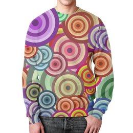 """Свитшот унисекс с полной запечаткой """"Цветные круги"""" - узор, стиль, рисунок, абстракция, круги"""