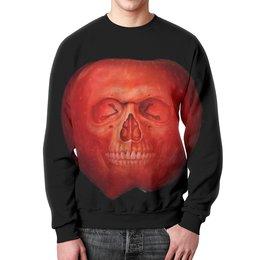 """Свитшот унисекс с полной запечаткой """"Skull Art"""" - skull, череп, apple, яблоко, арт дизайн"""