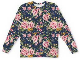 """Свитшот унисекс с полной запечаткой """"Peony"""" - любовь, цветы, весна, пионы"""
