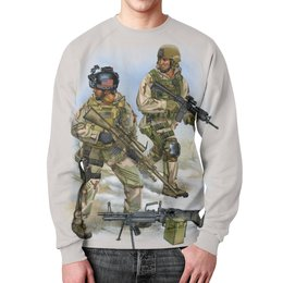 "Свитшот унисекс с полной запечаткой ""US Army"" - us army, армия сша, америка, солдаты, арт дизайн"