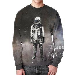 """Свитшот унисекс с полной запечаткой """"Космонавт"""" - space, космос, россия, восточный"""