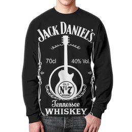 "Свитшот унисекс с полной запечаткой ""Jack Daniels"" - алкоголь, виски, whiskey, alcohol, jack daniels"