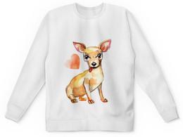 "Свитшот унисекс с полной запечаткой ""Pam-pam-pam-pa-pa... Chihuahua!"" - арт, собака, чихуахуа"