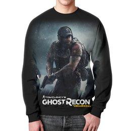 """Свитшот мужской с полной запечаткой """"Tom Clancy's Ghost Recon Wildlands"""" - игры, для геймеров, ghost recon, tom clancys ghost recon wildlands, tom clancy"""