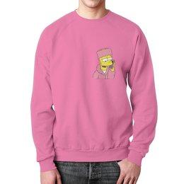 """Свитшот мужской с полной запечаткой """"Bart Simpson"""" - мультики, симпсоны, simpson, bart simpson, барт симпсон"""