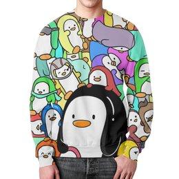 """Свитшот унисекс с полной запечаткой """"Пингвины"""" - пингвины, стиль, рисунок"""