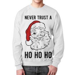 """Свитшот унисекс с полной запечаткой """"Дед Мороз. Новый год"""" - новый год, рождество, новогодняя, дед мороз, санта клаус"""