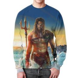 """Свитшот мужской с полной запечаткой """"Aquaman   """" - комиксы, супергерой, аквамен"""