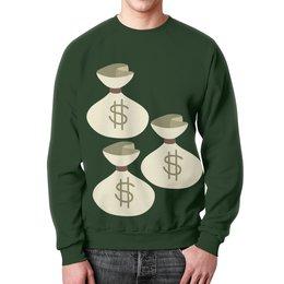 """Свитшот мужской с полной запечаткой """"Деньги (Доллары)"""" - деньги, доллар, money"""