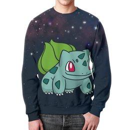 "Свитшот мужской с полной запечаткой ""PoKeMon Bulbasaur"" - pokemon, покемон, bulbasaur, бульбазавр"