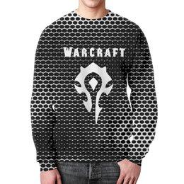 """Свитшот мужской с полной запечаткой """"Warcraft"""" - игры, компьютерные игры, warcraft, варкрафт, военное ремесло"""
