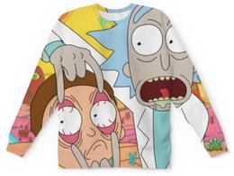 """Свитшот унисекс с полной запечаткой """"Рик и Морти (Rick and Morty)"""" - rick and morty, рик и морти"""