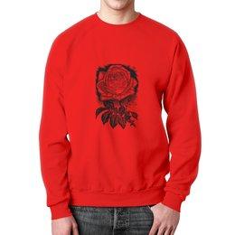 """Свитшот мужской с полной запечаткой """" Цветок"""" - цветы, роза, розы, букет, шипы"""