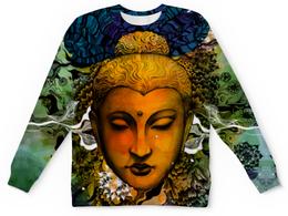 "Свитшот унисекс с полной запечаткой ""БУДДА"" - buddha, будда, буддизм, индуизм"