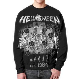 "Свитшот унисекс с полной запечаткой ""Helloween ( rock band )"" - helloween, heavy metal, rock music, хэви метал, рок музыка"