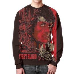 """Свитшот мужской с полной запечаткой """"Рэмбо (Rambo)"""" - рэмбо, первая кровь, rambo"""