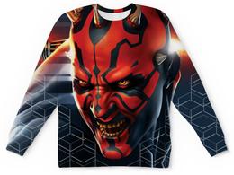 """Свитшот унисекс с полной запечаткой """"Darth Maul Design (Star Wars)"""" - дарт мол, звездные войны, фантастика, star wars, звезда смерти"""