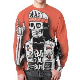 """Свитшот унисекс с полной запечаткой """"Bones Brigade"""" - skull, череп, скелет, punk, dead"""