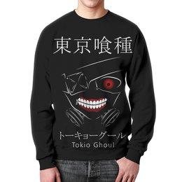 """Свитшот унисекс с полной запечаткой """"Токийский гуль"""" - аниме, манга, токийский гуль, tokyo ghoul, кэн канэки"""