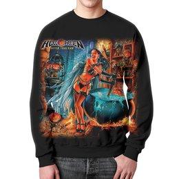 "Свитшот мужской с полной запечаткой ""Helloween ( rock band )"" - heavy metal, helloween, рок музыка, хэви метал, rock music"