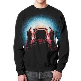 """Свитшот мужской с полной запечаткой """"Космонавт"""" - space, космос, galaxy, cosmic, космонавт"""