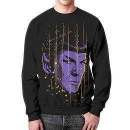 """Свитшот унисекс с полной запечаткой """"Спок. Звёздный Путь"""" - star trek, спок, spock, звёздный путь"""