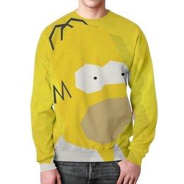 """Свитшот унисекс с полной запечаткой """"гомер , симпсоны , The Simpsons , мультики"""" - мультики, гомер, симпсоны, the simpsons"""