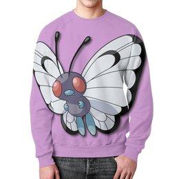 "Свитшот унисекс с полной запечаткой ""Баттерфри"" - нинтендо, nintendo, pokemon go, покемон го, butterfree"