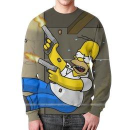 """Свитшот унисекс с полной запечаткой """"The Simpsons"""" - симпсон гомер"""