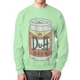 """Свитшот мужской с полной запечаткой """"Пиво """"Duff"""""""" - прикольные, пиво, симпсоны, duff, дафф"""