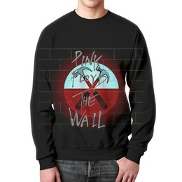 "Свитшот мужской с полной запечаткой ""Pink Floyd The Wall"" - стена, рок музыка, пинк флойд, pink floyd, the wall"