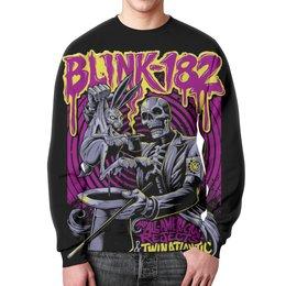 """Свитшот мужской с полной запечаткой """"Blink-182 Band"""" - punk rock, рок группа, панк рок, blink-182, blink182"""