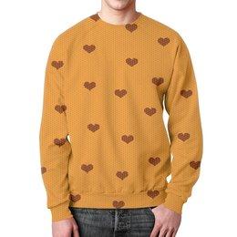 """Свитшот унисекс с полной запечаткой """"Pattern"""" - зима, узоры, сердечки, pattern, вязанная"""