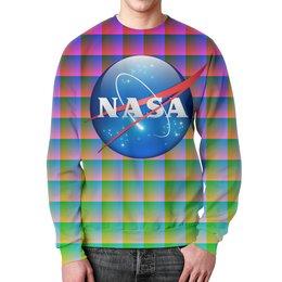 """Свитшот мужской с полной запечаткой """"NASA SPACE"""" - space, стиль, космос, вселенная, universe"""