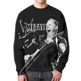"""Свитшот мужской с полной запечаткой """"Metallica"""" - рок, metallica, группы, метал, металлика"""